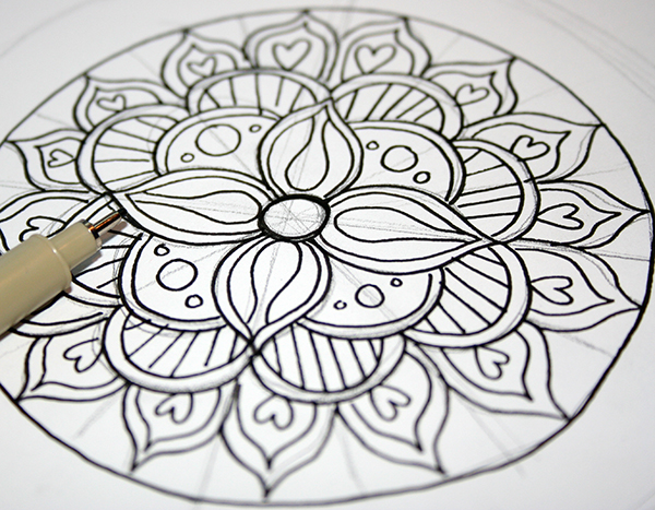workshop mandala tekenen - studiovanhout